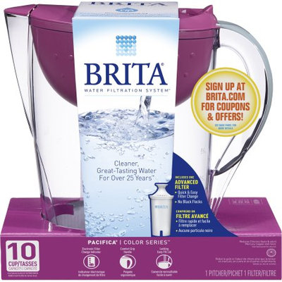 Brita Pacifica Water Filter Pitcher, Berry, 10 Cup