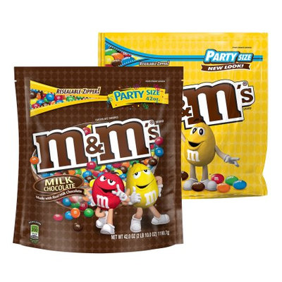 Mars M'S Milk Chocolate and Peanut Candy Mix, Office Party Size 42-Ounce Bag (Pack of 2)