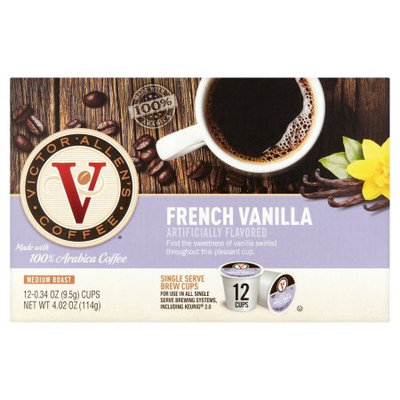 Trilliant Victor Allen's coffee French Vanilla Flavored Coffee Single Serve Cups For Keurig K Cup Brewer, 12 Count
