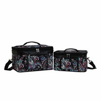 World Traveler Women's 2-Piece Cosmetic Case Set, Paisley