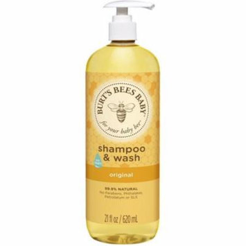 3 Pack - Burt's Bees Baby Shampoo & Wash, Original 21 oz