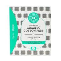Honest 10-Count Ultra Thin Organic Cotton Pads Regular