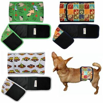 WASHABLE Dog Diaper for MALE Belly Band Wrap NEOPRENE Reusable for SMALL and LARGE Big Breeds sz M (waist 13