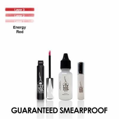 LIP INK Semi-Permanent Lip Kit, Energy Red