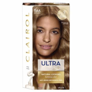 Clairol Ultra Lift Anti- Brass Luminous Hair Color, Ash Blonde 11AA, 1 Kit