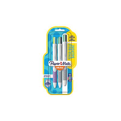 Paper Mate 1832419 InkJoy Quatro 3 Pack Retractable Pens