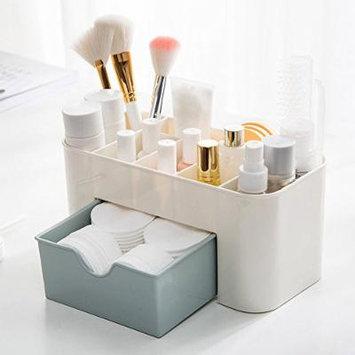 Saving Space Desktop Comestics Makeup Storage Drawer Type Box makeup organizer make up - BLUE