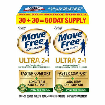 Move Free Advanced Ultra 2-in-1 with Comfortmax, Clinically Proven Joint Support, 60 Count