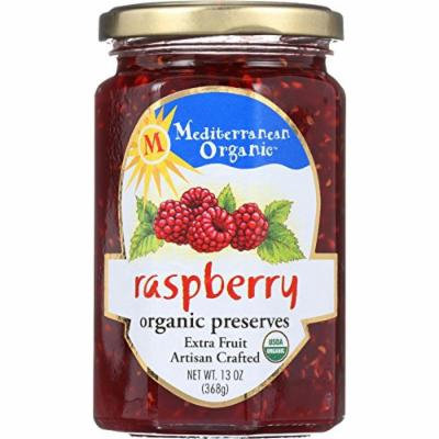Mediterranean Organic Fruit Preserves - Organic - Raspberry - 13 oz - case of 12