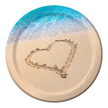 Club Pack of 96 Beach Love Disposable Paper Premium Strength Party Lunch Plates 7