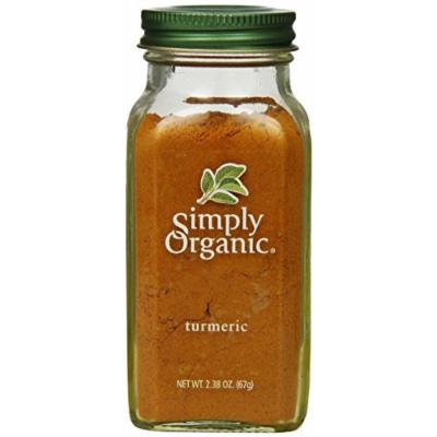 Simply Organic Turmeric Root Ground Certified Organic, 2.38-Ounce Container - Two Pack