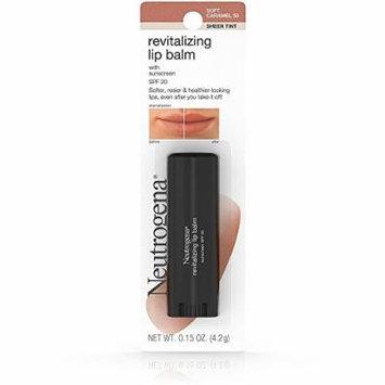 Neutrogena Revitalizing Lip Balm SPF 20, Soft Caramel [50], 0.15 oz (Pack of 12)