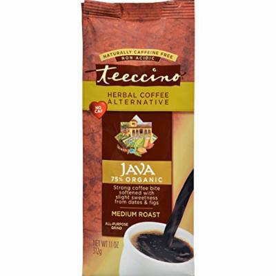 2 Pack of Teeccino Mediterranean Herbal Coffee - Java - Medium Roast - Caffeine Free - 11 oz - 70%+ Organic - Gluten Free - Dairy Free - Yeast Free - Wheat Free - Vegan