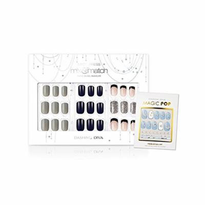 Dashing Diva Limited Edition No.6 Magic Press Edge Full Cover Gel Nail Tips, Disposable Pack of 4