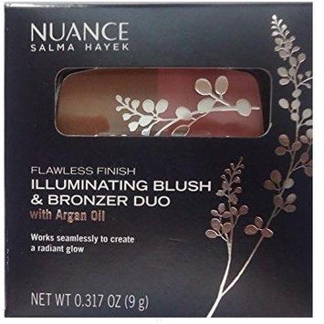Nuance Salma Hayek Flawless Finish Illuminating Blush & Bronzer Duo with Argan Oil #555 Coral Glow (ONE PALLETTE)