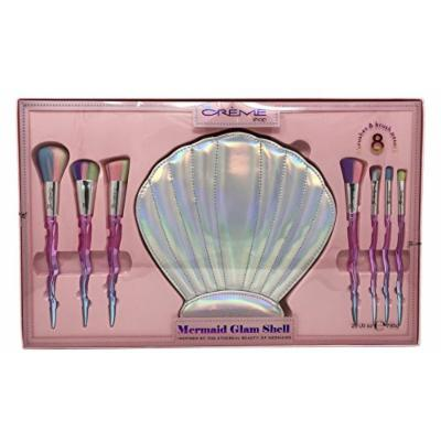 The Crème Shop - Mermaid Glam Shell Set - 7 Makeup Brushes and Seashell Pouch