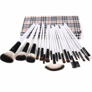 Lychee Professional Beautiful 20pcs Makeup Brushes Cosmetic Soft Make Up Brush Set Kit Foundation with Plaid Pouch Bag Case