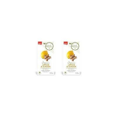 (2 Pack) - Heath And Heather - Organic Lemon & Ginger Tea | 20 Bag | 2 PACK BUNDLE by Heath & Heather