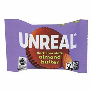 Unreal Dark Chocolate Almond Butter Cups - Case Of 40 - .53 Oz.