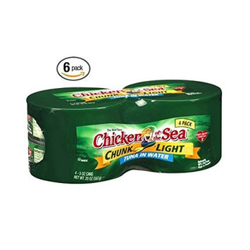 Chicken of the Sea Chunk Light Tuna in Water, 4-5 Oz. Cans Shrinked Wrapped (6 Packs Total of 24 cans)