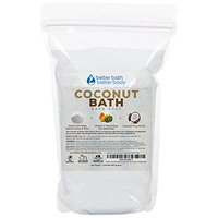 Coconut Bath Salt 32oz (2-Lbs) - Epsom Salt Bath Soak With Coconut Fragrant Oil Plus Vitamin C Crystals - Enjoy The Sweet Exotic Aromatherapy Of Coconut