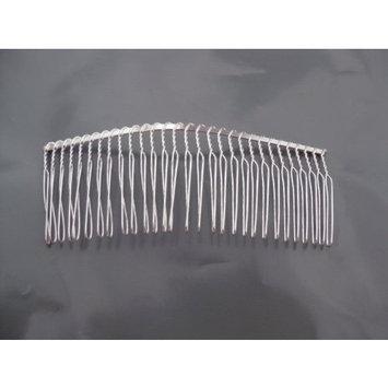1 COMB05 Twist Wire Silver Hair Comb Wedding Bridal Veil Supplies Craft DIY 4.5