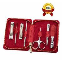 JJ 7 Piece Manicure Kit Case (Red)