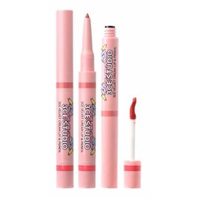 3CE Studio Velvet Cream Lip & Pencil, Chapter Pink