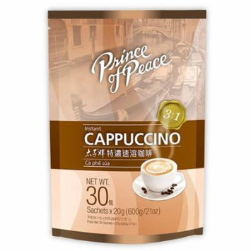 Prince Of Peace Instant Cappuccino 1 Bag 30 Sachets