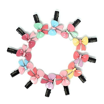 Mon Acrylic Colorful Flowers Hair Bows Alligator Clips For Women/Girls/Teen/Kids/babies, Set of 12 (Colorful bow)
