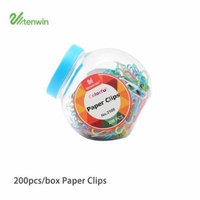200PCS/Box Paper Clips Colorful Durable Metal Material Paper Pins Anti-Rusted Bookmark Clip
