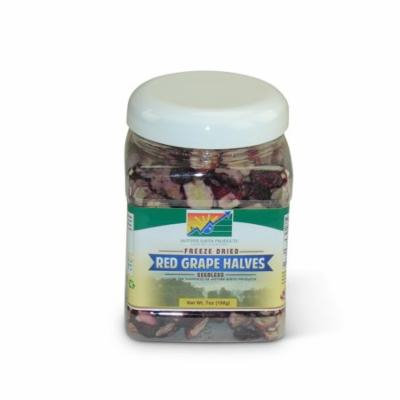 Mother Earth Products Freeze Dried Seedless Red Grape Halves, jar