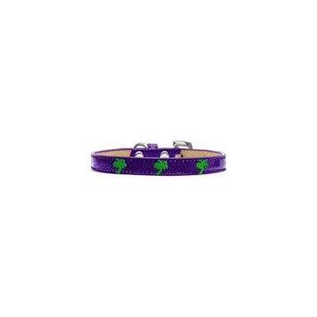 Green Palm Tree Widget Dog Collar Purple Ice Cream Size 16