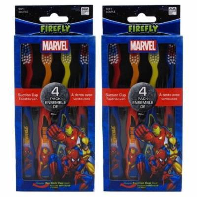 Dr. Fresh Marvel Heroes Standing Toothbrush, 4 Count per pack (2 Packs)