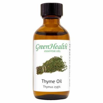 Thyme Essential Oil - 2 fl oz (59 ml) Glass Bottle w/ Cap - 100% Pure Essential Oil by GreenHealth
