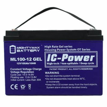 12V 100AH GEL Battery Replacement for Dual-Lite 12-736 12-783
