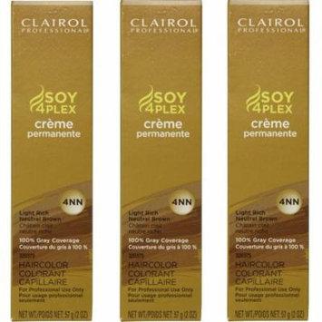 Clairol Soy4Plex Color LIGHT RICH NEUTRAL BROWN Creme HC-SPC4NN (3 Pack)