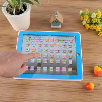 ABS Non-Toxic Eco-Friendly Baby Kids Toddler Learning English Machine Tablet Early Educational Study Toy (Blue)