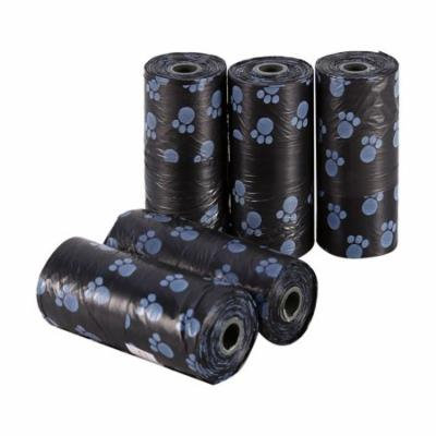 TMISHION 5 Rolls Pet Waste Bags, Dog Waste Bags, Bulk Poop Bags on a roll, Clean Up Poop Bags Refill Rubbish Bags Black