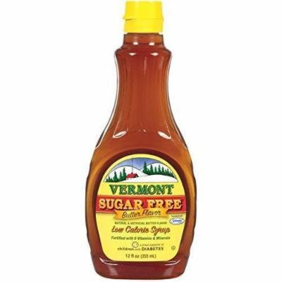 Maple Grove Farms Butter Syrup Sugar Free 12 oz New