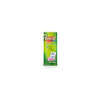 Children's Zyrtec Allergy Syrup, Sugar Free Bubble Gum 4.0 oz.(pack of 6)