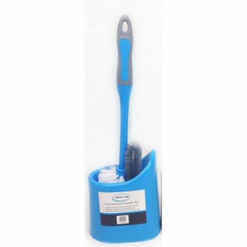 All For You Toilet Bowl Cleaning Brush and Holder Set-dual brushes (blue)