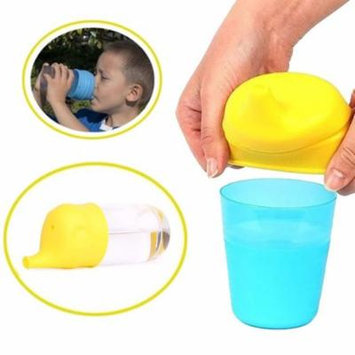 Girl12Queen Elephant Shape Suction Cup Cover Kid Silicone Sippy Lids Suck Bottle Trainingcup