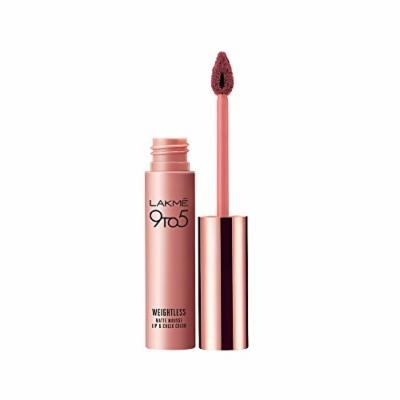 Lakme 9 to 5 Weightless Mousse Lip & Cheek Color, 9 g (Rose Touch)