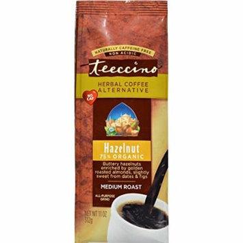 2 Pack of Teeccino Mediterranean Herbal Coffee - Hazelnut - Medium Roast - Caffeine Free - 11 oz - 70%+ Organic - Gluten Free - Dairy Free - Yeast Free - Wheat Free - Vegan