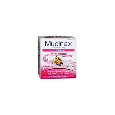 Children's Mucinex Chest Congestion Expectorant, Mini-Melts Bubble Gum 12.0 ea (pack of 6)