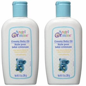Angel of Mine Creamy Baby Oil with Aloe Vera & Vitamin E - 10 oz (2 packs)