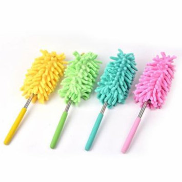 Girl12Queen Mini Chenille Stretchable Overlength Fibre Car Duster Dirt Cleaning Brush Tool