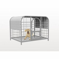 Shatex Dog Kennel Shade Cover, Pet Cage Sunblock Shade Panel With Grommets(Dog Kneel/Pet Cage Not Included) 8x12ft,Gray