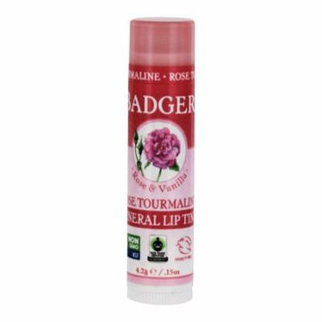 Badger - Mineral Lip Tint Rose & Vanilla Rose Tourmaline - 0.15 oz. (pack of 12)